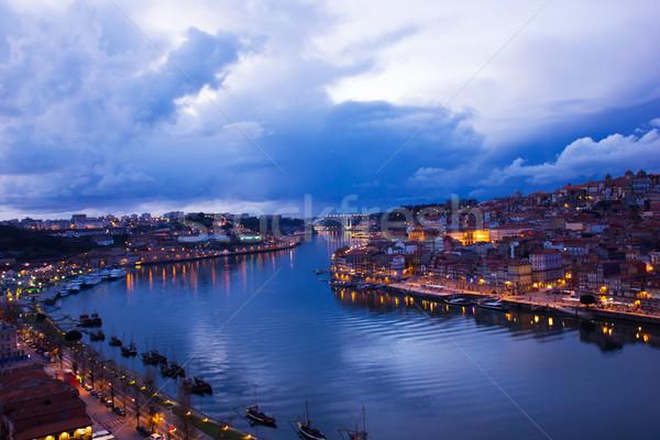 Porto and villa nova di Gaya, Portugal Stock photo © neirfy