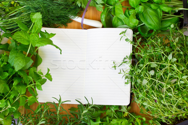 blank notebook for recipes Stock photo © neirfy