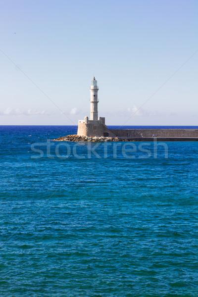 Stock fotó: Görögország · tenger · világítótorony · napos · nyár · nap