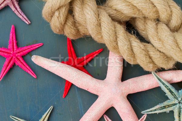 морской веревку Starfish синий пляж Сток-фото © neirfy