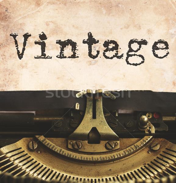 машинку пустая страница черный Vintage слово ретро Сток-фото © neirfy