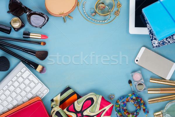 Сток-фото: женский · Desktop · женщину · моде · синий