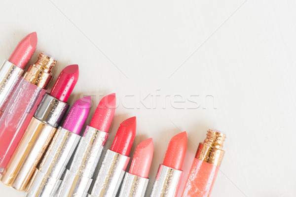 Collection of lipsticks Stock photo © neirfy