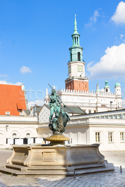 Old market square in Poznan, Poland Stock photo © neirfy