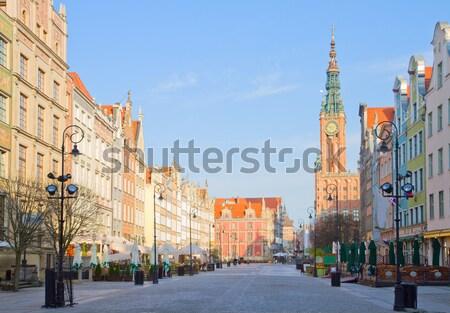 Görmek gdansk şehir salon uzun sokak Stok fotoğraf © neirfy