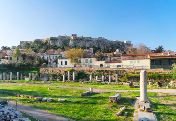 Romano fórum colina cidade luz viajar Foto stock © neirfy