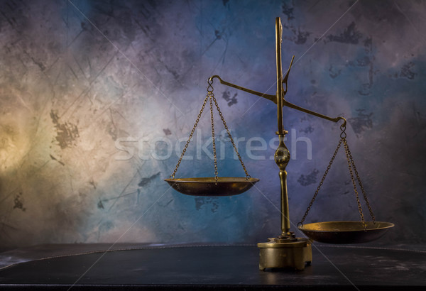 Law antique scales Stock photo © neirfy