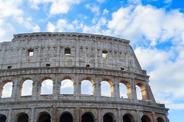 Stok fotoğraf: Colosseum · gün · batımı · Roma · İtalya · ören