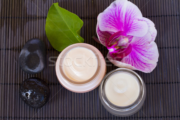 orchid flower and beauty creams Stock photo © neirfy
