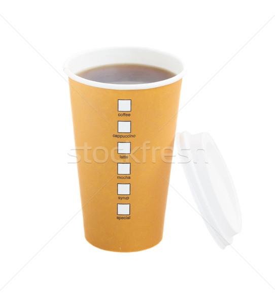 open americano take away coffee with cap Stock photo © neirfy