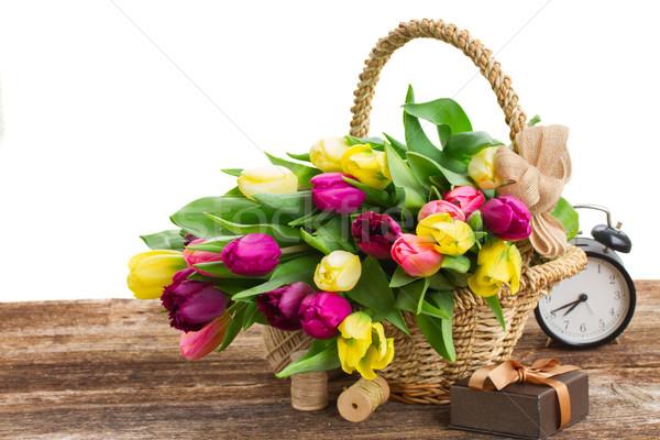 花束 黄色 紫色 チューリップ 花 ストックフォト © neirfy