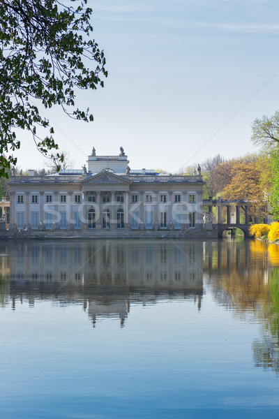 Parc Varsovie Pologne palais eau ciel Photo stock © neirfy