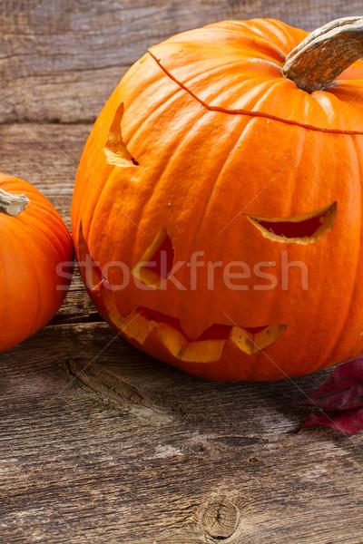 Carved pumpkin Stock photo © neirfy