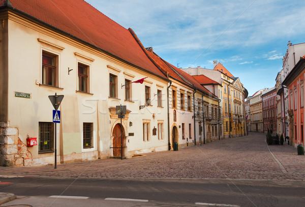 Foto stock: Rua · velho · cracóvia · Polônia · cidade · velha · céu