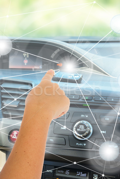 Self-driving car concept Stock photo © neirfy