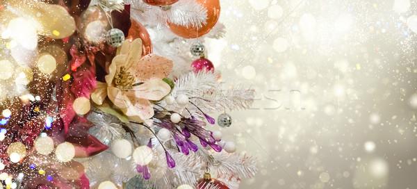 Foto stock: Navidad · decoraciones · blanco · árbol · vacaciones