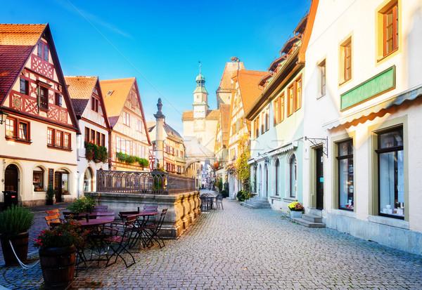Rothenburg ob der Tauber, Germany Stock photo © neirfy