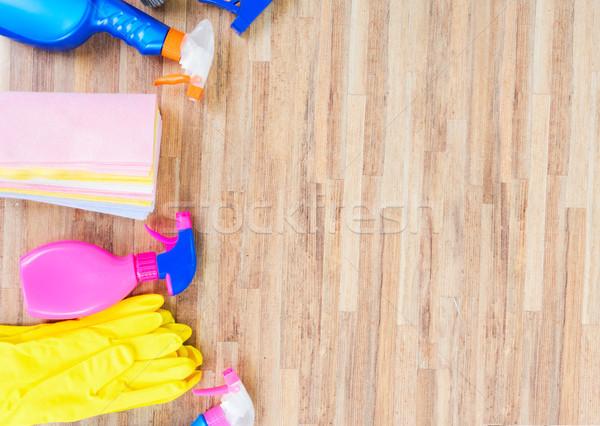 Pulizie di primavera colorato copia spazio ufficio casa mano Foto d'archivio © neirfy