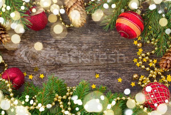 christmas frame with light beams Stock photo © neirfy
