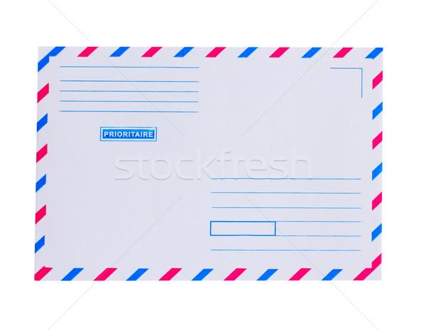 ストックフォト: 優先 · メール · 封筒 · 孤立した · 白 · 背景