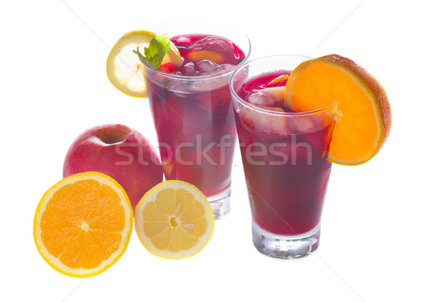 sangria wine in glasses Stock photo © neirfy