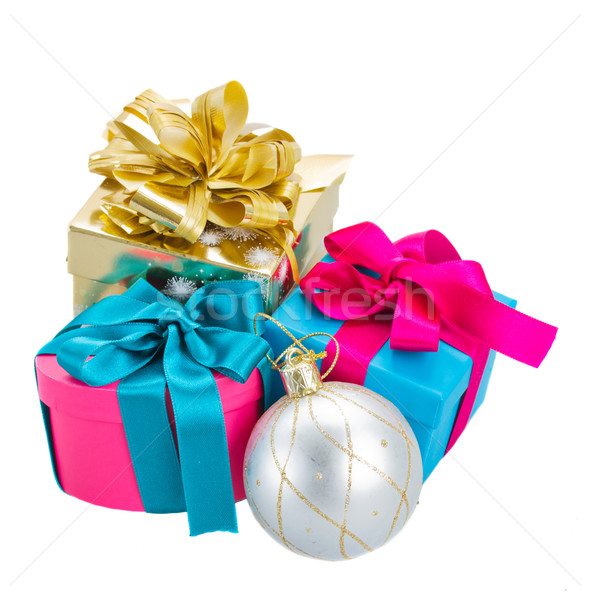 pile of  christmas gift boxes Stock photo © neirfy