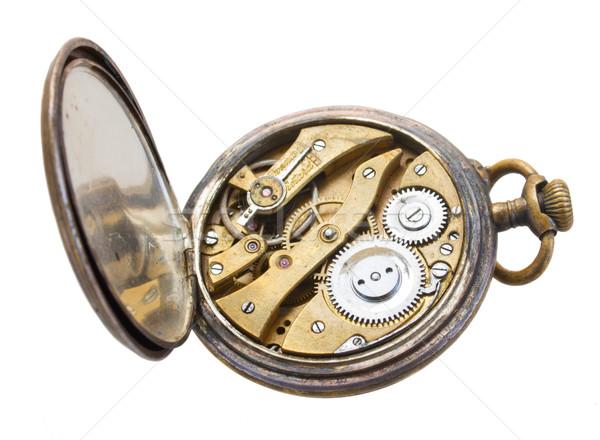 open antique clock Stock photo © neirfy
