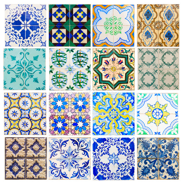 antique tiles of Portugal Stock photo © neirfy