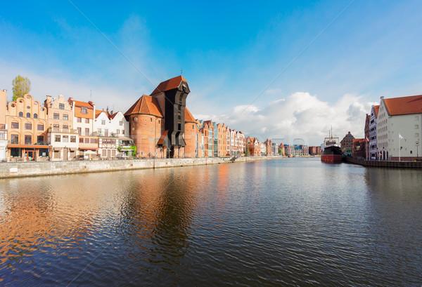 View danzica gru colorato gothic città vecchia Foto d'archivio © neirfy