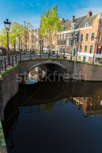 Houses of Amsterdam, Netherlands Stock photo © neirfy