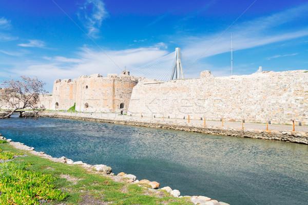 мнение Рио моста замок стены Греция Сток-фото © neirfy