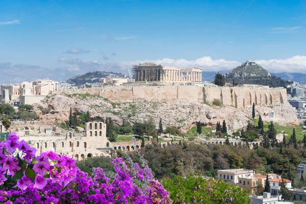 有名な スカイライン アテネ ギリシャ アクロポリス 丘 ストックフォト © neirfy