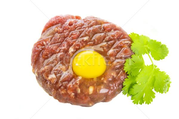 steak tartar Stock photo © neirfy