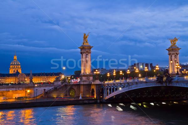 Alexandre III Bridge in  Paris, France Stock photo © neirfy