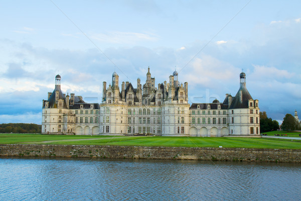 facade of Chambord chateau at sunset, France Stock photo © neirfy