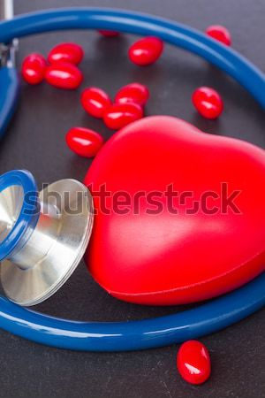stethoscope  with red heart Stock photo © neirfy