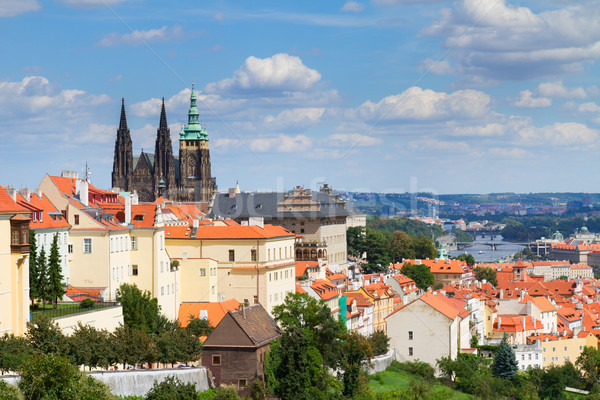 view of  of Prague from Hradcany district Stock photo © neirfy