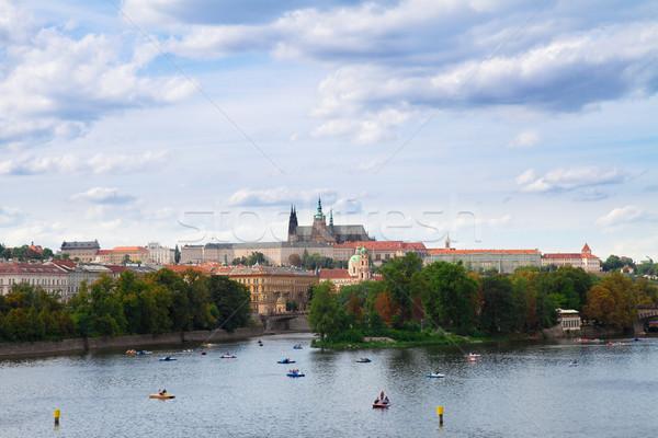 Katedral Prag Çek Cumhuriyeti manzara kilise seyahat Stok fotoğraf © neirfy