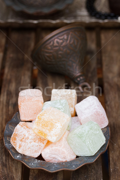 Lumps of Lokum or Turkish Delight Stock photo © neirfy
