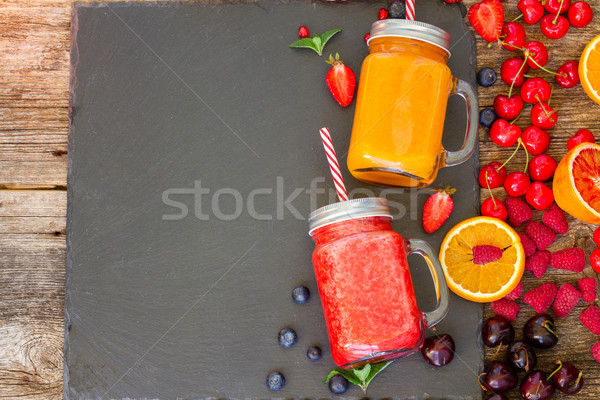 Fresh smoothy drink with igredients Stock photo © neirfy