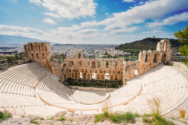 Herodes Atticus amphitheater of Acropolis, Athens Stock photo © neirfy