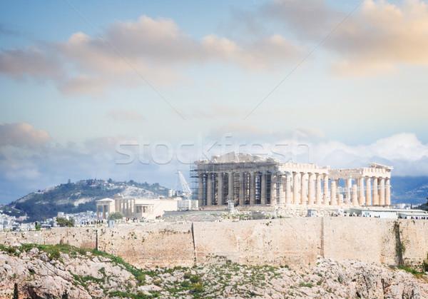 Famoso linha do horizonte Atenas Grécia Acrópole colina Foto stock © neirfy