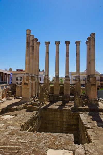 римской храма Испания древних руин небе Сток-фото © neirfy