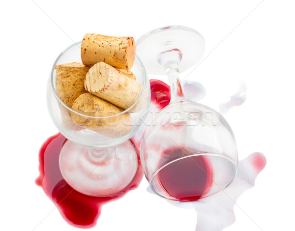 Stok fotoğraf: şarap · bardakları · şarap · yalıtılmış · beyaz · içmek