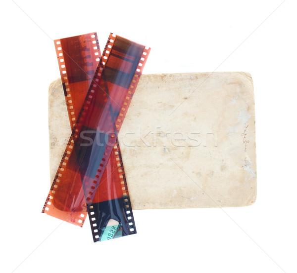 Régi fotó filmek izolált fehér textúra keret Stock fotó © neirfy