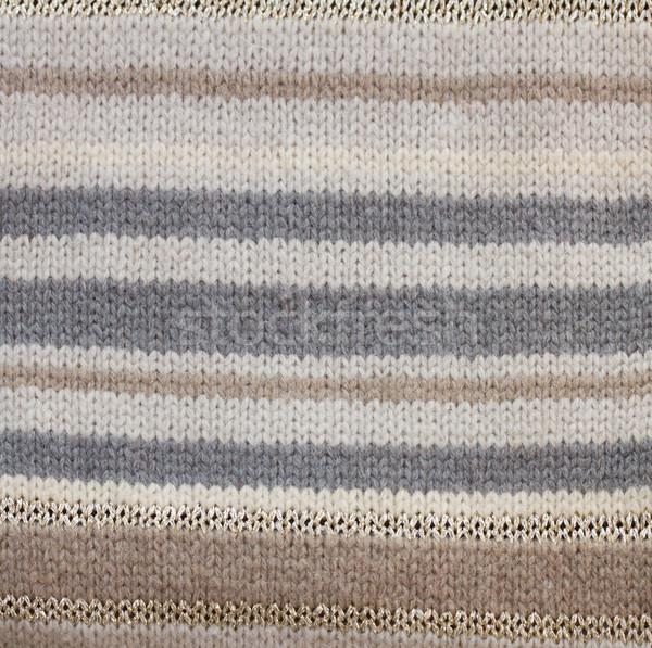 Sápadt szürke pulóver textúra kötött gyapjú Stock fotó © neirfy