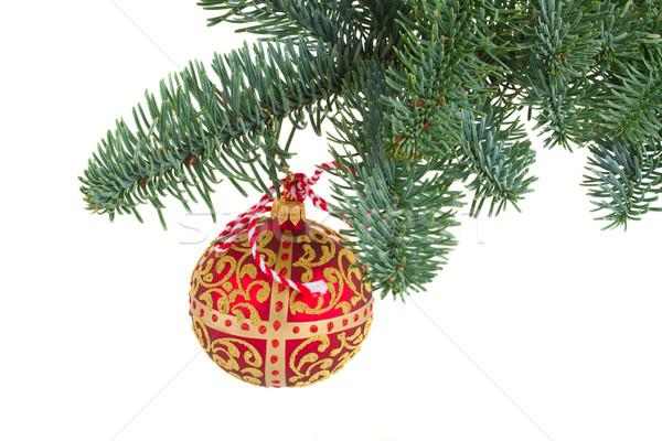 Stock photo: hanging christmas ball