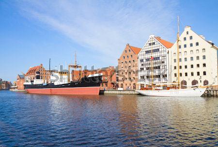 Panoramę Sztokholm Szwecja historyczny statków Zdjęcia stock © neirfy