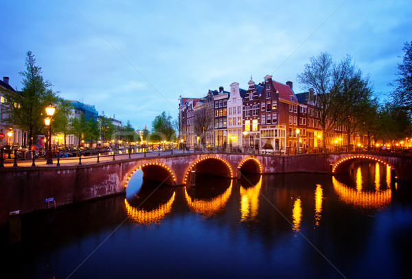 canals of Amsterdam,  Netherlands Stock photo © neirfy
