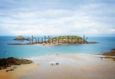 Inseln Frankreich Hochwasser Retro Strand Stock foto © neirfy